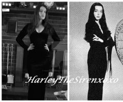 Morticia Addams WIP 1 by HarleyTheSirenxoxo