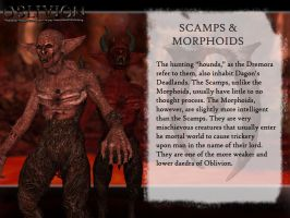 Dagon's Creatures: Scamps and Morphoids by jag1221