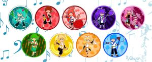 Kung Food Vocaloid Chibis by MaeMaeTwin