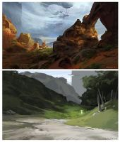 Landscape Studies by Rossipoo