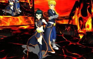 MMD_Dark Signers Carly n Jack by Riiko-chan16