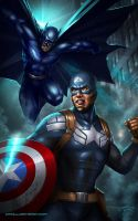 Captain America vs Batman by Aioras