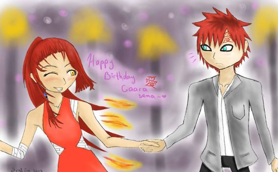 Happy birthday Gaara-sama~ by chibichewy-a