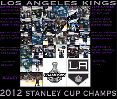 Los Angeles Kings 2012 Stanley Cup Champions by WolfArt-Rusher