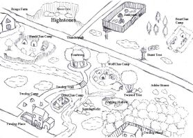 Warrior Cats RP Territory Map by jodiepikachu