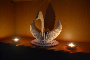 Origami Swan by OgieR8
