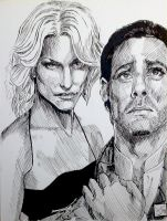 Baltar and Caprica Six by thewalkingman