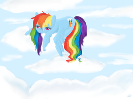 Rainbow In The Clouds by ValkyrieSkies