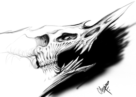 Skullmonsterthing by GalaxyFrame