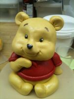 Scupted 3D Baby Pooh Bear by Spudnuts