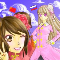 Fem!China and Fem!Russia by silverblueroses