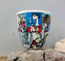 Flower pot Picasso by naraosart
