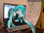 Miku Out from Laptop by fahmi4869