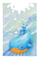 Little Blue Whale by ElysianImagery