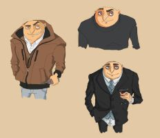 Gru sketches by TheFishAndTheBird