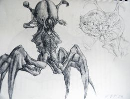 Creature Concept 2 (hand drawn) by TopHatTruffles