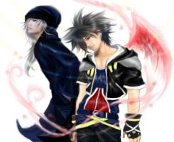 sora and riku real style.. by Roiuky