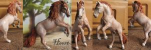 Repaint and cust Schleich Andalusian stallion by Schleichgirl1976