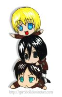 Shingeki no Kyojin - For once I'm on top! by Garnboll