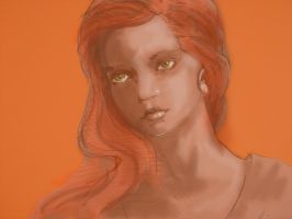 Portrait in orange by Gleb-Vo