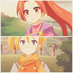Hans and Nadia - Golden sun by KurumiErika