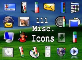 111 Misc icons 'NEW' by zman3
