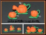 Pumpkin Tea Set Charms by Railey98