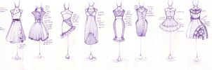 .10 Dresses. by Lii-chan