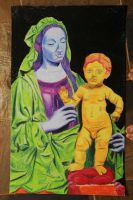 madonna and child by sockthefish