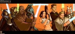 Attack of the Jedi by dcjosh