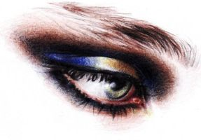 Gold Blue Eye Shadow by ctMunirah