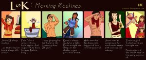 LoK: Morning Routines by Ziannna