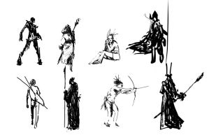 Thumbnail Sketches by psdeluxe