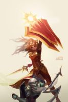 The shield is the mightiest by shilin