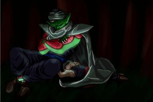 Piccolo and Gohan - sleep by TheBombDiggity666