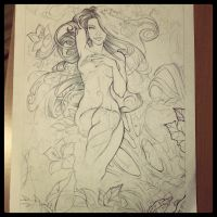 Poison Ivy's Eden - WIP by TheInkPages