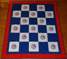Toronto Blue Jays Quilt by quiltoni