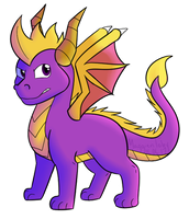 The Best Purple Dragon by MaggienToby