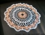 Crocheted Hairpin Lace Doily by venea1391