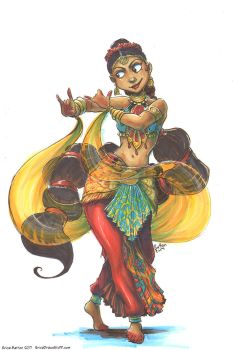Concept Art: Indian Dancer by erica-prime