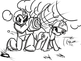 Megaman and Twilight Sparkle The bane of Dr. Wily by ACharmingPony