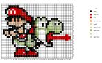 Baby Mario and Yoshi Pattern by H3LLoK66aren99