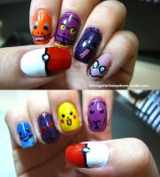 Pokemon Nails by tharesek