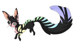Pastel Rainbow Critter Adopt - SOLD by ShadowInkAdopts