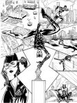 Catwoman Page Ink by JECasassus