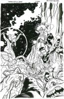 Fantastic 4 cover inks by BroHawk