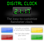Digital Rainmeter Clock by UltraBE