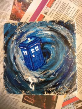 Tardis through the Time Vortex II by EvilMooseArt