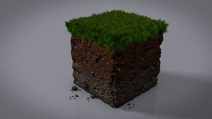 Minecraft Dirt Block by Nalsnag