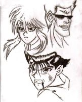 Yu Yu Hakusho Sketches by mmcfacialhair